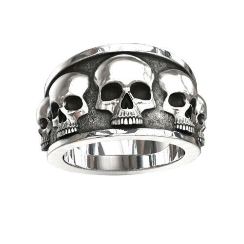 Mode Persönlichkeit Punk Schädel Ring Männer übertrieben Vintage Schmuck Supply