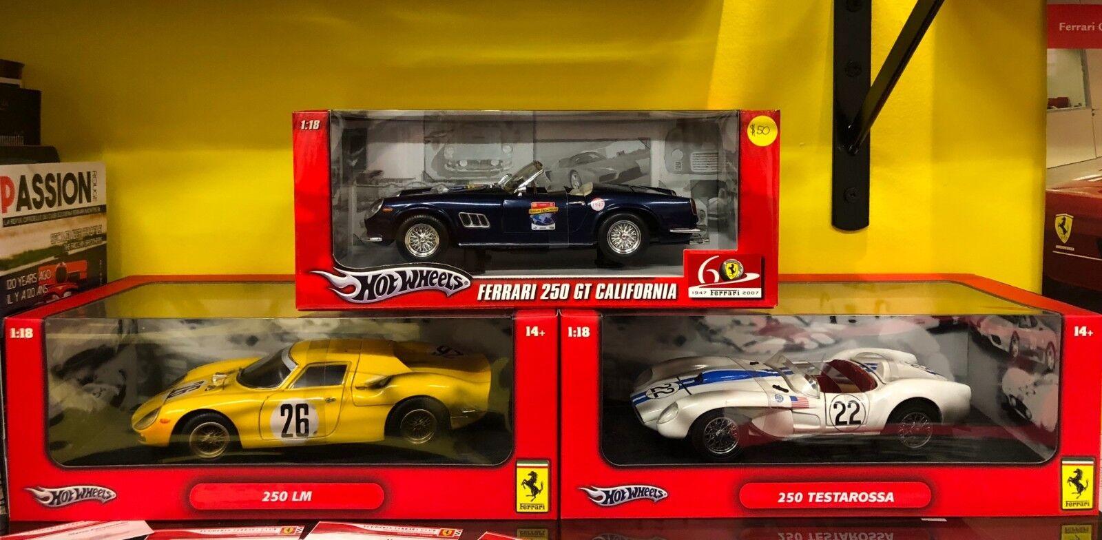 LOT OF 3 FERRARI CARS 1 250 LeMANS, 1 250 TESTAROSSA, & 1 250 GT CALIFORNIA Blau