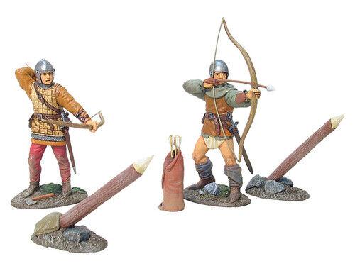 Britains #17753 Knights of Agincourt English Archer Set #2, Matte Series, 4 Pcs.