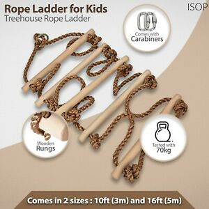 Swing-Set-Rope-Ladder-for-Kids-amp-Adults-Tree-Climbing-6-8-10-13-15-16-24ft
