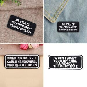Words-Slogan-Embroidered-Iron-on-Biker-Motorcycle-Patches-Fabric-hot-Badge-W9M9
