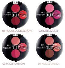 Déstockage Lot de 4 Coffrets Lèvres Palette Colorissimo Bourjois de 3 nuances
