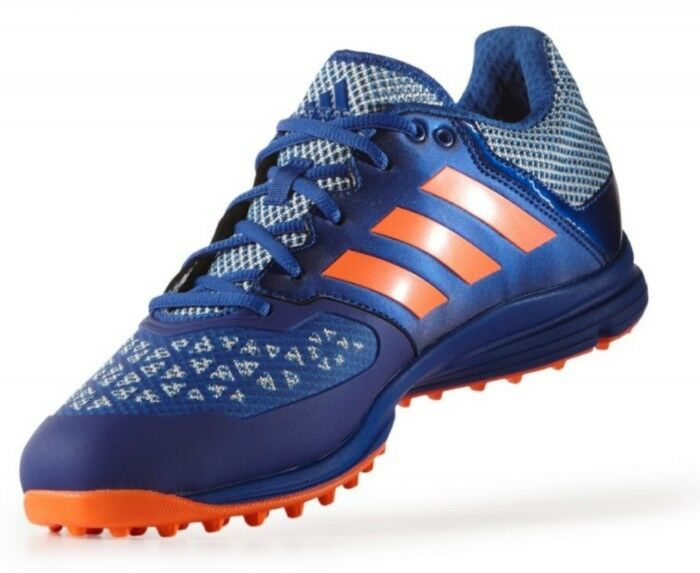 NEW Men's (CHOOSE SIZE) ADIDAS  Zone Dox Hockey shoes bluee orange Cleats AQ6520