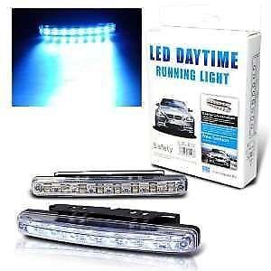Car Daylight Day Time Daytime Running Light DRL 8 LED Super White Bright Light