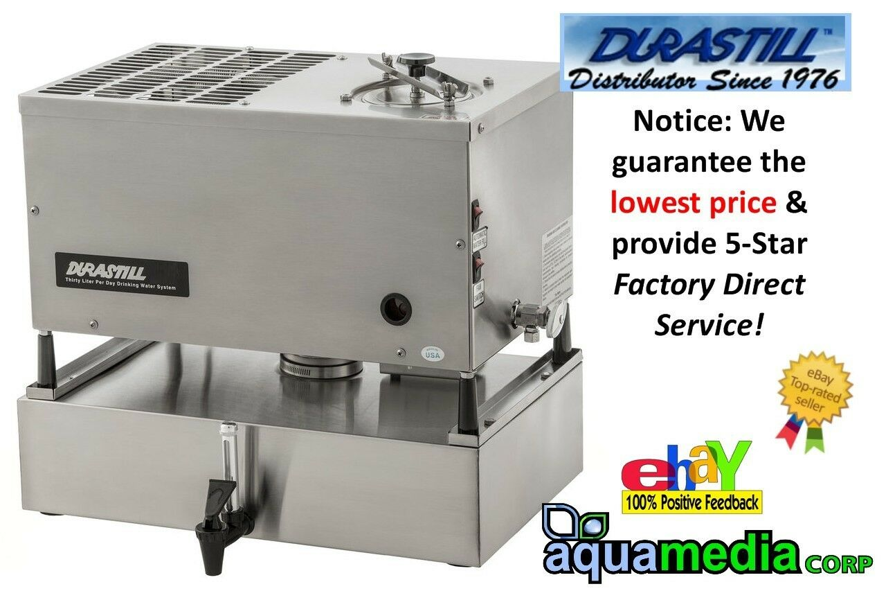 240 Volt Durastill 46 Litres Day Manual-Fill Water Distiller + 17 Litre Reserve