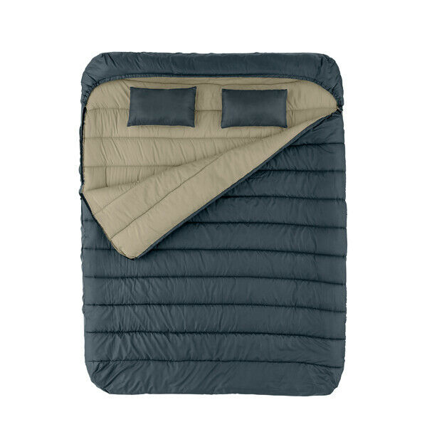 Cold Weather Sleeping Bag 2 Person Queen Size Outdoor Camping Hiking With Pillow