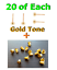 20x Earring Stud Posts Post Finding 4mm Pad 1.2cm Length 20x Bullets Backs Back