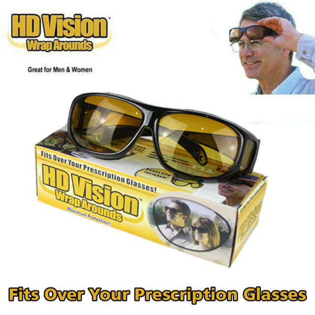3442419ded As Seen TV HD Vision Driving Sunglasses Wrap Around Glasses Unisex Anti  Glare UV