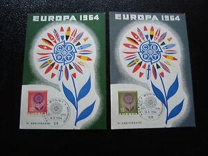 Germany-Rfa-2-Cards-14-9-64-Europa-yt-N-313-314-cy3