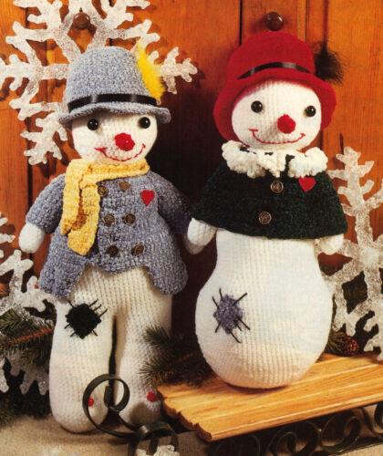 CUTE Mr /& Mrs Frosty//Decor//Crochet Pattern Instructions