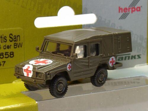 "Herpa MINITANKS VW ILTIS sani /""CROCE ROSSA esercito tedesco/"" 700658-1:87"