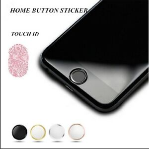 Aluminum Touch ID Home Button Sticker for apple iphone 8 8 plus 7 7 ... a588fd457f