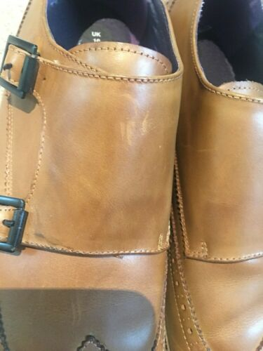 44 Gucinari Brogue 10 Leather Buckle Uk Bnwob Eur Double Tan pp18B4