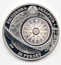 Belarus 20 roubles Kruzenstern Sailing Ships hologram silver coin 2011
