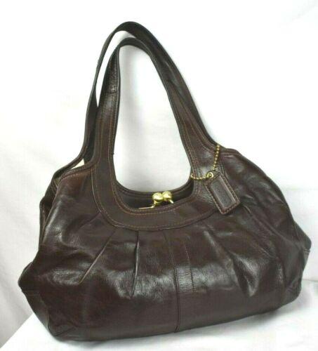 Coach Ergo Leather Pleated  Satchel 12248