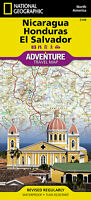 Nicaragua Honduras El Salvador Adventure Map National Geographic Waterproof