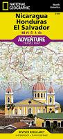 Nicaragua Honduras El Salvador Adventure Map National Geographic Waterproof