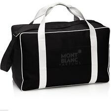 Montblanc Large Black Duffle Bag BNWOT Overnight Flight Gym Sports Shoulder Pen