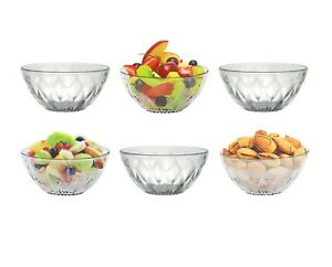 6pc Ice Cream Sundae fruits dessert verre plat Boisson Tasse Bol Set de couleur