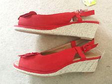 Graceland Ladies Wedge Slingback Peep Toes Sandals