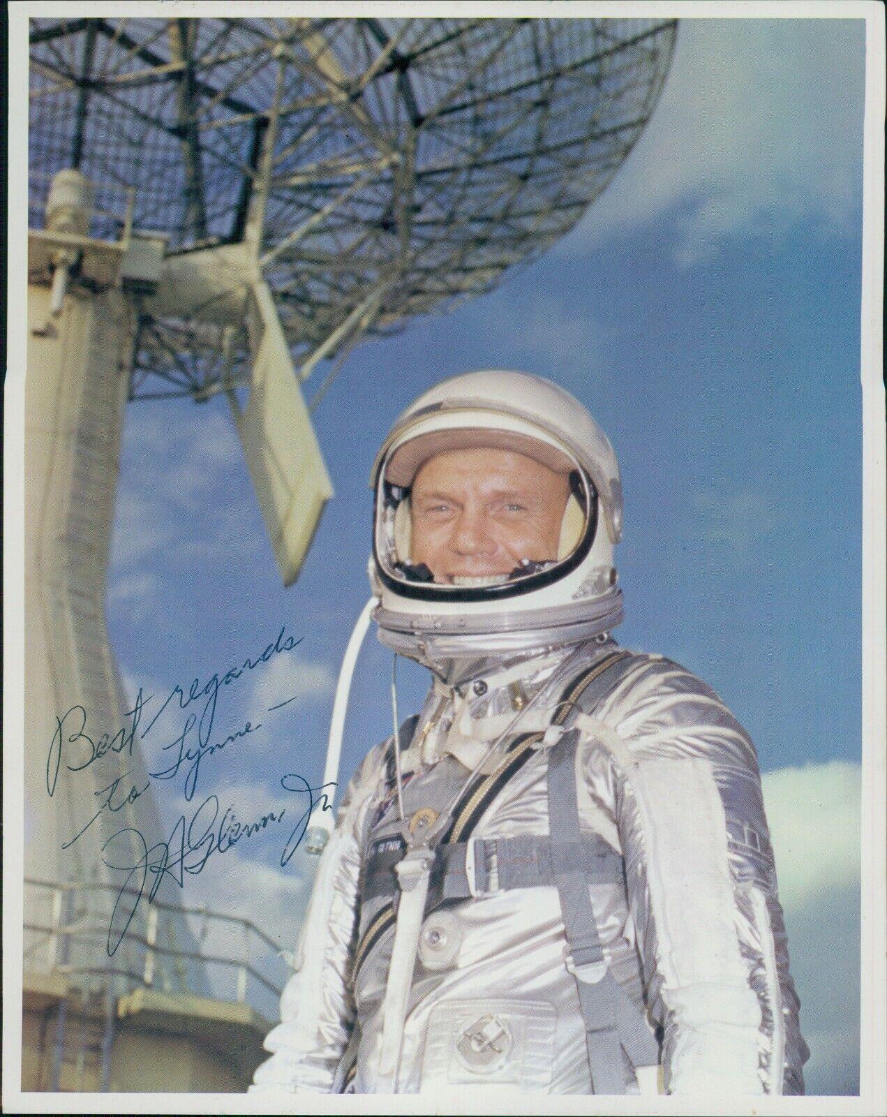 s l1600 - John Glenn Astronaut Signed Personalized 8x10 Photo JSA Authenticated
