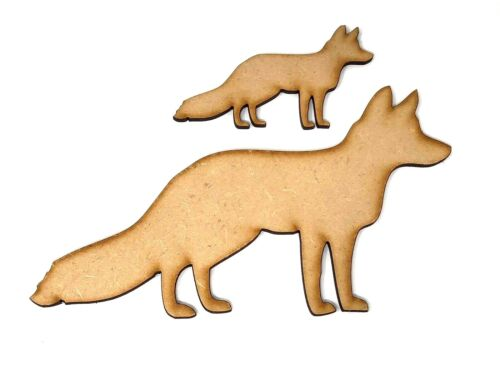 Animal Fox decoupage Fox Craft shape embellishment Wooden Fox Craft design