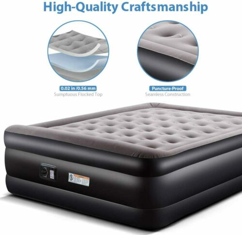 Air Mattress BlowUp Bed Inflatable Airbed with Built-in Electric Pump 136kg Load