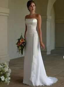 New-Stock-White-Ivor-y-Chiffon-Wedding-Dress-Bridal-Gown-Size-6-8-1-0-12-14-16