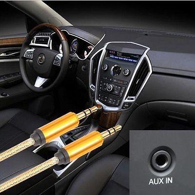 Audio Klinken 3,5mm Aux Kabel 2x Klinke Metall Stecker Auto Handy 1m vergoldet