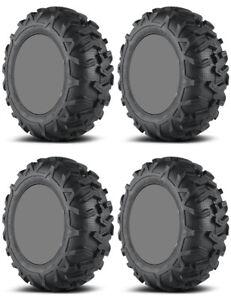 Four-4-EFX-MotoForce-ATV-Tires-Set-2-Front-25x8-12-amp-2-Rear-25x10-12