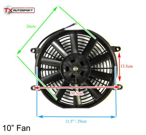 "10/"" Universal Slim Line Radiator Fan 12V 80W Intercooler Performance Pro Sport"