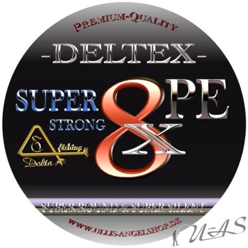 Deltex Super Strong Grün 0.12mm 7.60Kg 1000M 8 Fach Geflochtene Angelschnur Sha