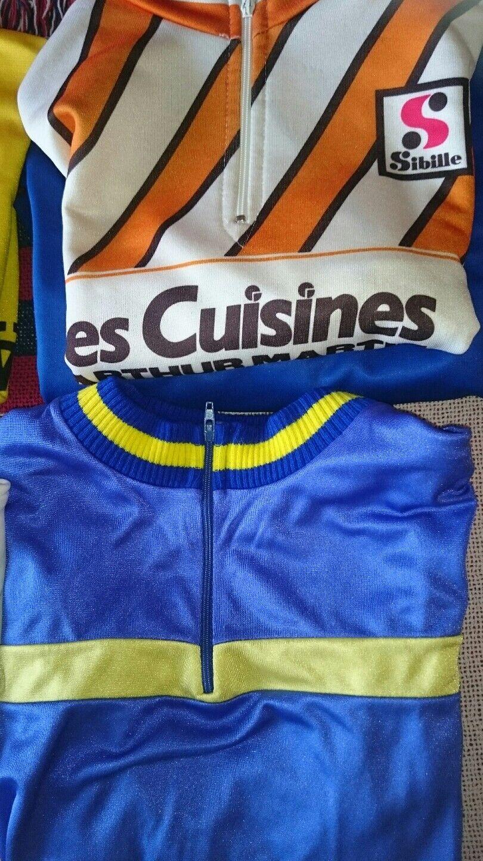 Lot de 7 Maillots Cyclistes Année 80