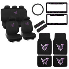 Item 7 New Full Set Purple Butterfly Car Front Rear Seat Covers Floor Mats Interior