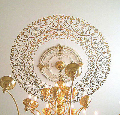 Georgian Ceiling Medallion Stencil - Decorative Stencils for Easy DIY Home Decor