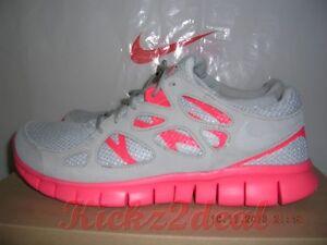 NEW NIKE FREE RUN 2 EXT Running Shoes MENS SZ 8 - 12 Grey/Crimson Red 555174-002