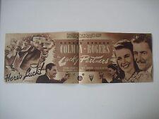 Original Movie Film Program LUCKY PARTNERS. RKO 1940. Programa de mano,cine