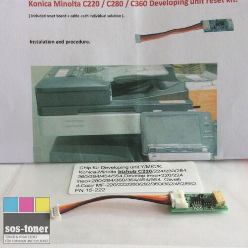 Reset-Chip Y//M//C//K Konica-Minolta Bizhub C220,224,280,284,360,364,454,458,554