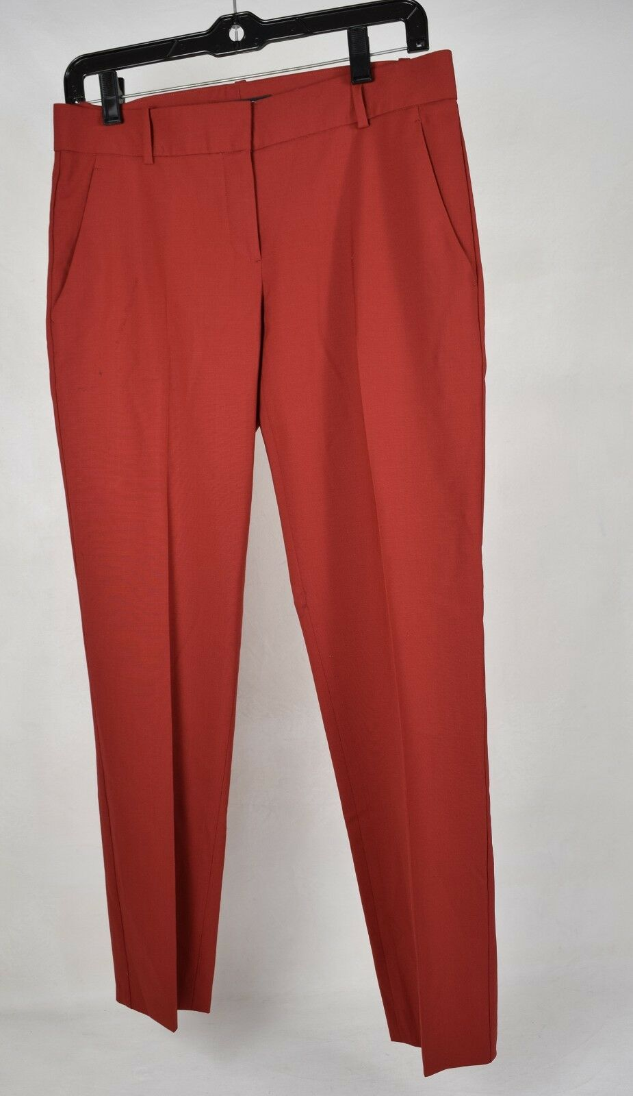 Theory Womens Hartsdale Classic Pants Wool Red 4