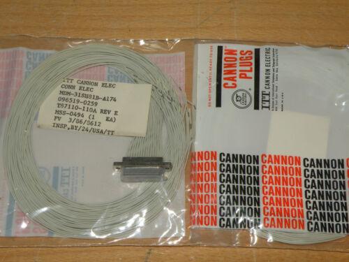 ITT Cannon 31 Pin Micro-D Wired Connector Socket MDM-31SH81B-A174