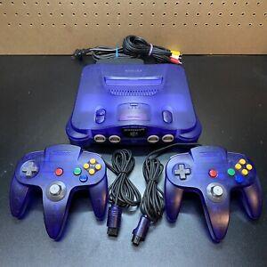 Clear-Grape-Funtastic-Purple-Nintendo-64-N64-Console-NUS-001-AUTHENTIC-TESTED-ex