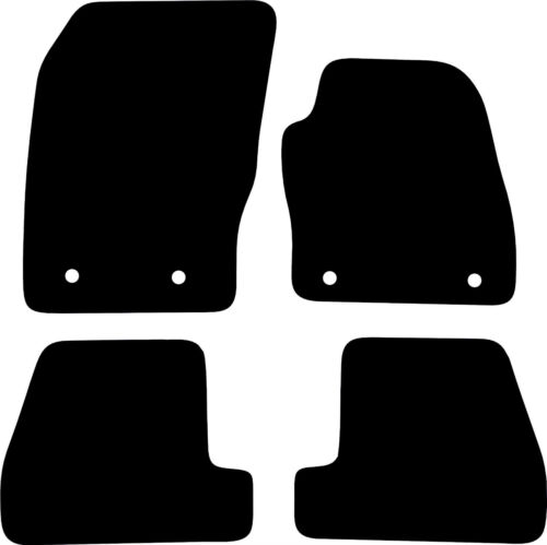 Ford Focus Heavy Duty 5mm Black Rubber Tailored Car Floor Mats 2015 To 2018