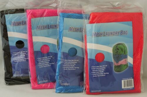 """Beach Gear Dorms NEW Lot of 4 Mesh Laundry Bag 36/""""x24/"""" Great for Clothes Toys"""