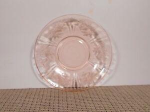 Federal-Depression-Glass-Sharon-Pink-Cabbage-Rose-Saucer-6-034