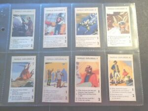 1961-Quaker-Oats-Cereal-FAMOUS-EXPLORERS-Columbus-Trade-set-12-card-like-tobacco