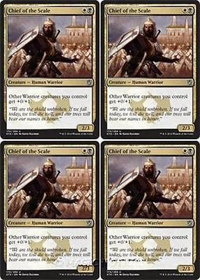 4x CHIEF OF THE EDGE Khans of Tarkir MTG Gold Creature — Human Warrior Unc