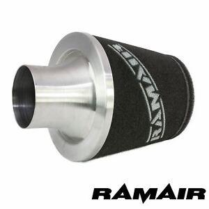 Ramair-Universal-Air-Filter-70Mm-Od-Neck-Aluminium-Intake-Silver