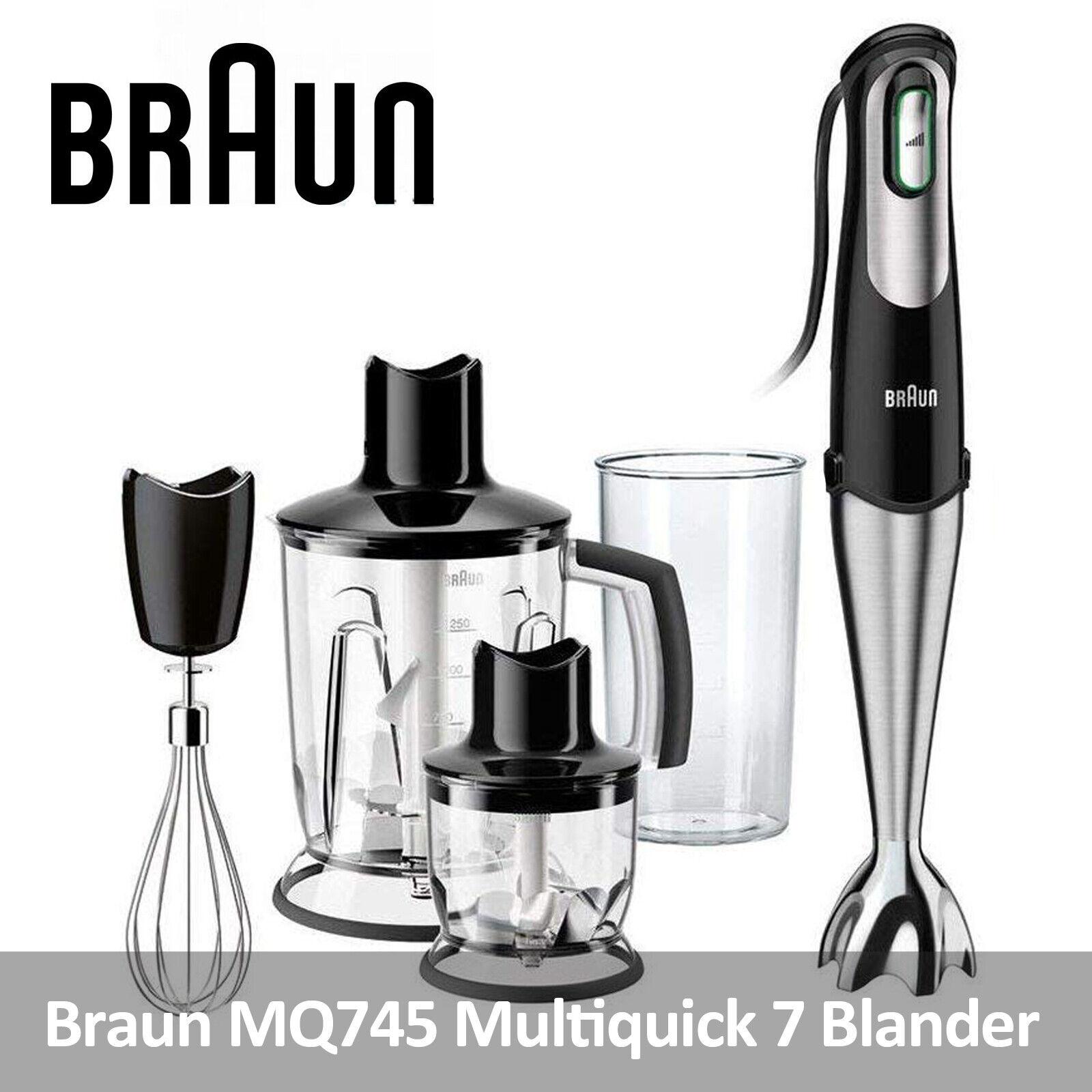 Braun Multiquick 7 Hand Blender Chopper Whisk Jug With Splash Control 750w Mq745 For Sale Online Ebay
