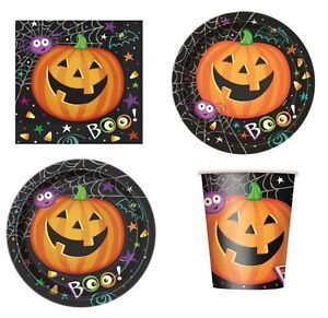 image is loading pumpkin pals halloween party tableware cups plates napkins