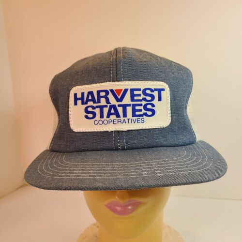 Vintage K Products Denim Harvest States Snapback F